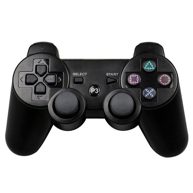 JIELI Cor Sólida Controlador Sem Fio Bluetooth Para Sony PlayStation 3 Dualshock Controlador PS3 Vibração Gamepad Com Pacote
