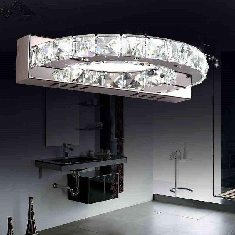 Moderna Casa de Banho Espelho de Parede de Cristal Arandela Luz CONDUZIDA Da Parede Para Casa Lâmpada de Iluminação Interior Lampe Murale Lampara