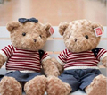 1 unidades 2015 NUEVO ESTILO 40 CM de Peluche Juguetes de Peluche Suave Oso de peluche ropa de vaquero Fábrica de felpa oso de peluche Regalos de Los Niños juguetes