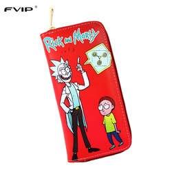 FVIP аниме Рик и Морти Длинный кошелек 3 стиля милый круглый кошелек на молнии