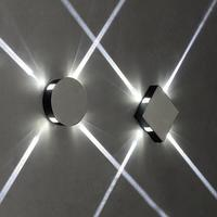 4*1W Bedroom bedside lamp LED wall lamp modern brief mirror LED wall light reading lamp swithc Flexible 1pcs