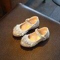 2016 Новых Осенью Дети Shoes Girls Shoes Мода Горный Хрусталь Принцесса Девушки Танцуют Shoes Партии Искусственной Кожи Малышей Shoes для Девочки