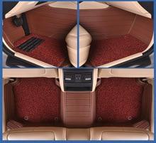 Myfmat custom foot leather car floor mats for KIA carnival Borrego VQ Opirus RIO SORENTO Pegas anti-slip waterproof breathable