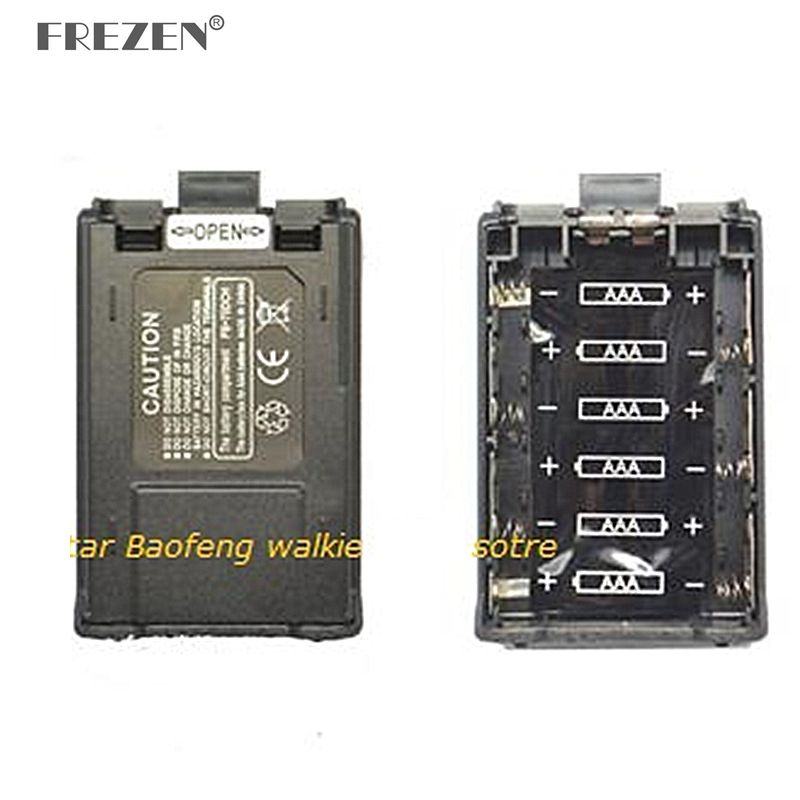 6 X AAA Two Way Radio Extender Battery Case Box For BAOFENG UV-5R UV-5RE PLUS 5RA 5RB 5RC TYT F8 Ham Radio
