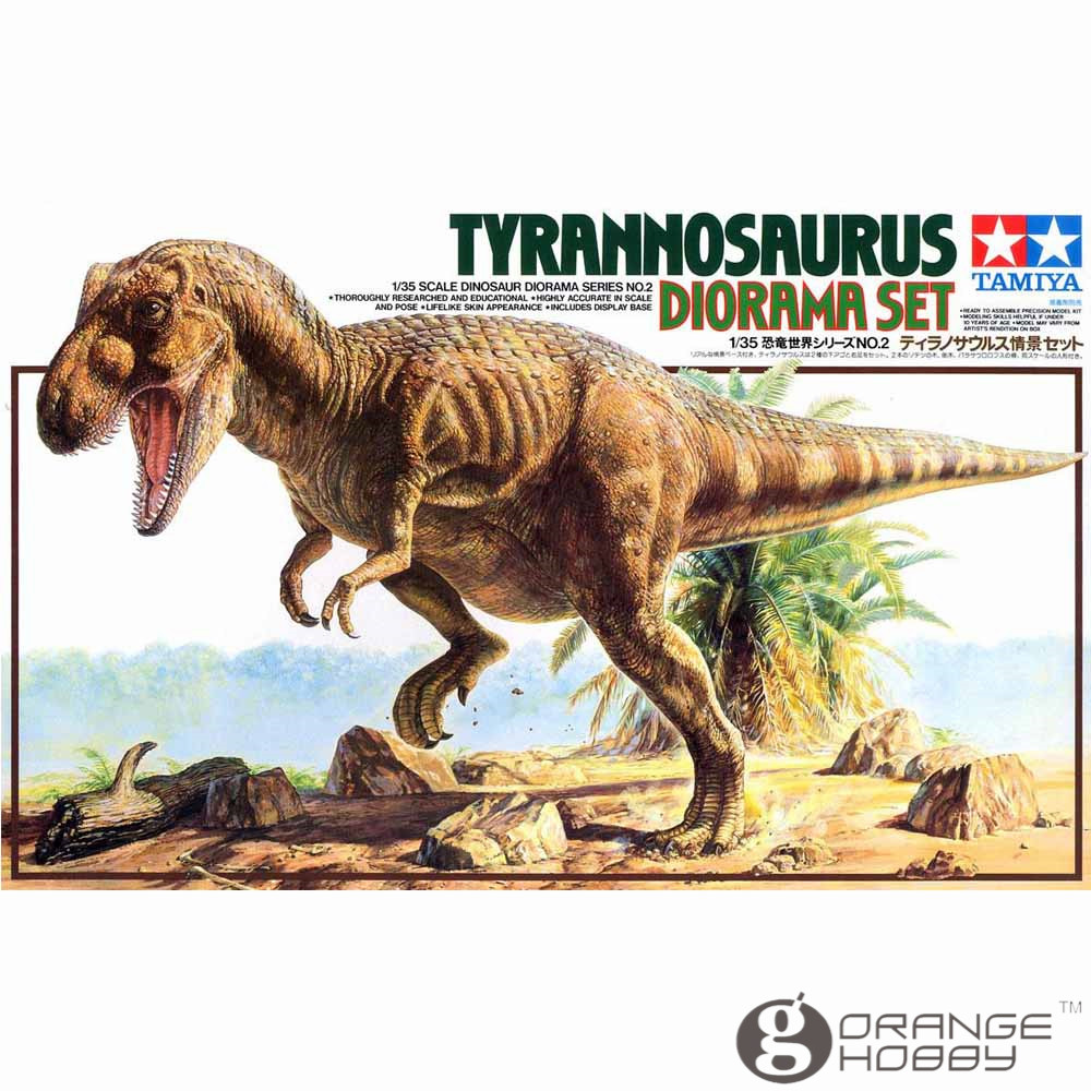 OHS Tamiya 60102 1/35 Tyrannosaurus Diorama Set Assembly Scale Dinosaur Model Building Kits ohs tamiya 14101 1 12 desmosedici scale assembly motorcycle model building kits