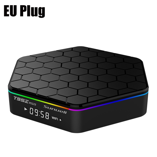 Sunvell T95Z Plus TV Box Amlogic Caja de la TV Inteligente Android Octa S912 Core 4 K x 2 K H.265 Decodificación 2.4G 5G de Doble Banda WiFi Media jugador