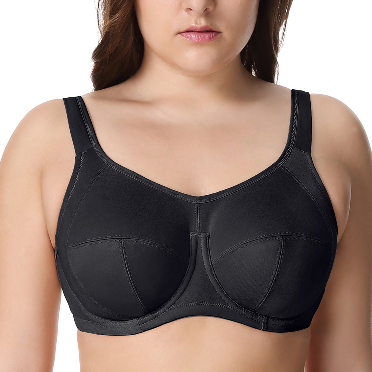 Women's X-back Full Support Bounce Control Plus Size Underwire Sports Bra