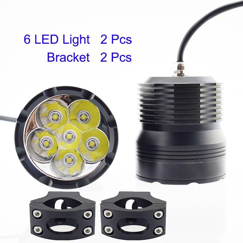 2Pcs Motorcycle Headlight 12V 60W LED Chip Moto Driving Super Bright Waterproof Fog Lamp Spot Headlamp Offroad Bicycle Spotlight