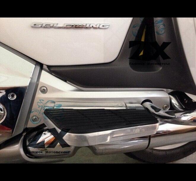 Мотоцикл Голдвингах хром обтекатель правой или левой нижней задней крышки Рамка для Honda GL1800 2001-2016 02 03 04 05 06 матовый черный