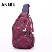 ANNIU Couple Crossbody Bags Messenger Chest Bag Pack Casual Bag For Men Waterproof Nylon Single Shoulder