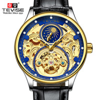 2018 New Tevise Brand Men Mechanical Watch Automatic Watches Fashion Business Man Waterproof Gold Clock Relogio