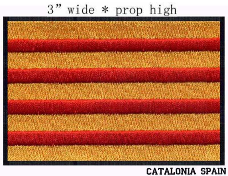 """Catalonia <font><b>Flag</b></font> Spain embroidery <font><b>patch</b></font> 3"""" wide shipping/ Colosseo/red and <font><b>gold</b></font> color/raise stripes"""