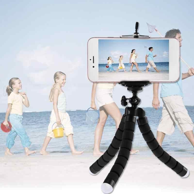 Mini 3 Warna Fleksibel Spons Gurita Tripod untuk Iphone Samsung Xiaomi Huawei Ponsel Smartphone Tripod Untuk Kamera GoPro