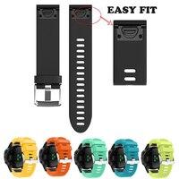 Silicone Easy Fit Watch Band Rubber Wrist Strap Belt For Garmin Fenix5X Fenix3 HR Quatix3 D2