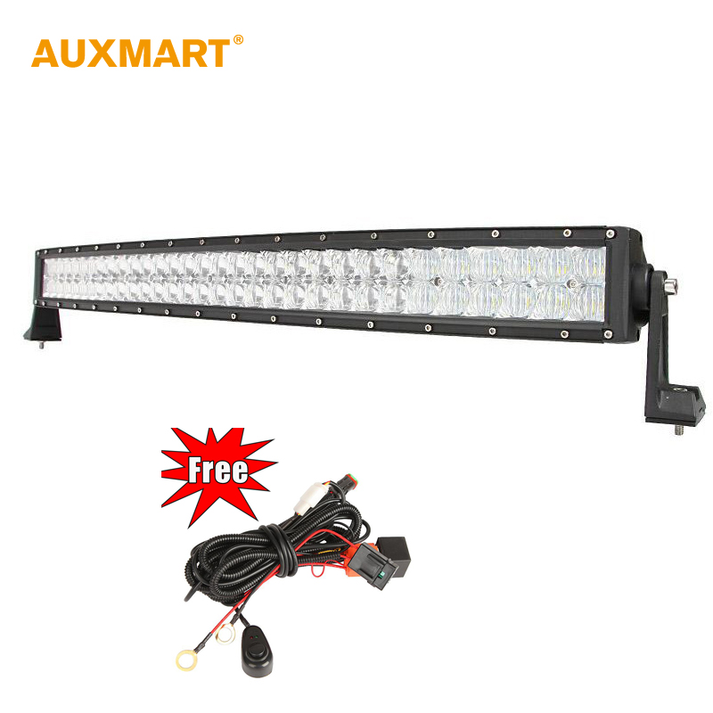 Auxmart 5D 32 300w Curved LED Bar Spot Flood Combo Beam Offroad 12V LED font b