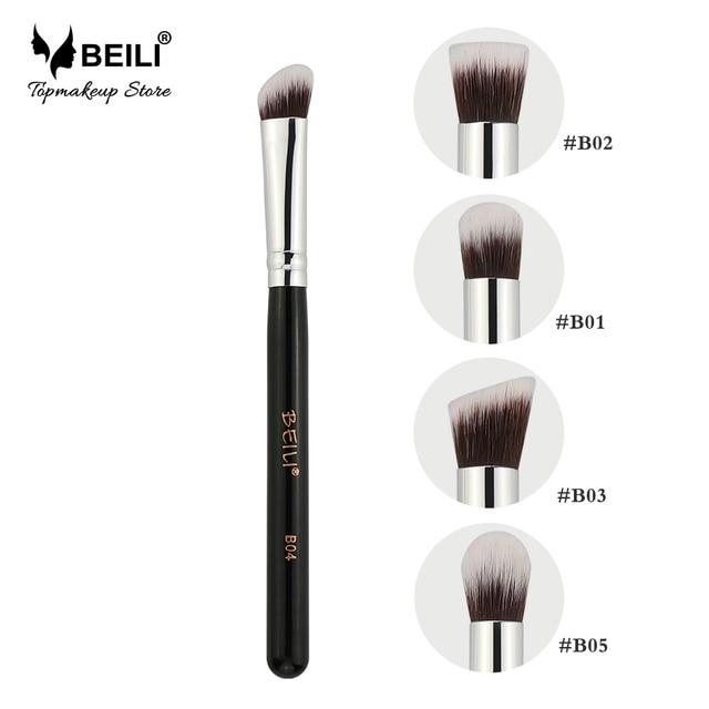 US $1 74 21% OFF BEILI Small Kabuki Single Eye foundation shade Blending  Contour Soft Synthetic Hair Vegan Makeup Brush Set -in Eye Shadow  Applicator