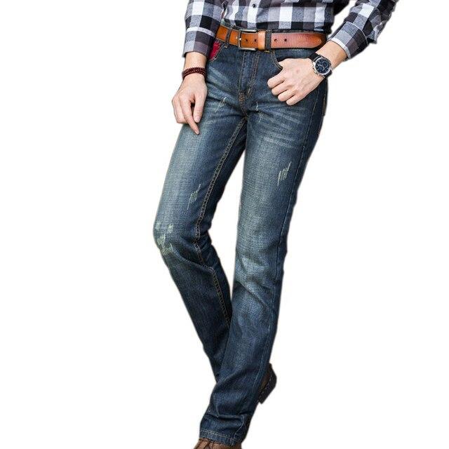 ae98609a00 Primavera Clásico Azul Gris Skinny Jeans Denim Jeans Para Hombre de Los Hombres  Marca de fábrica