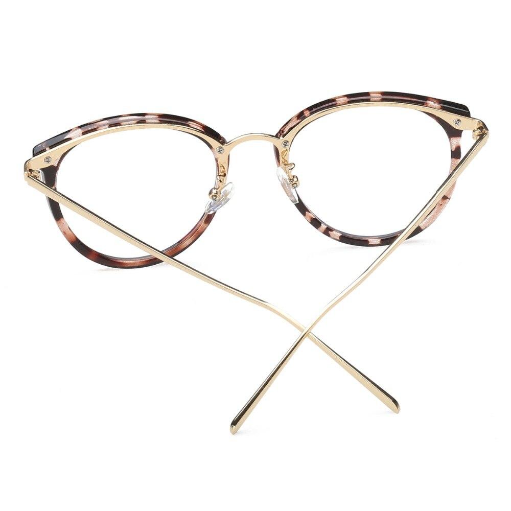 Eyeglasses Eyewear Frame Fashion Sort Vintage Metal Optical Frame - Beklædningstilbehør - Foto 2