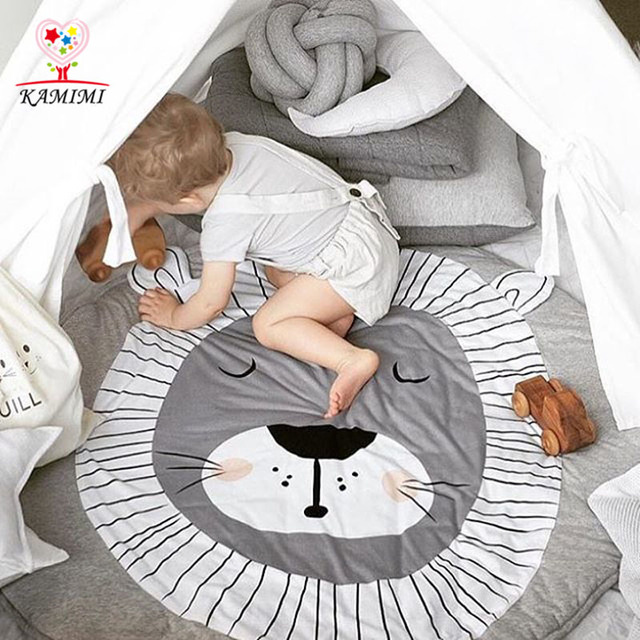 Baby Blanket Rabbit Lion Game Mat KAMIMI Kids Crawling Carpet baby Bedding Stroller Blanket Children's Room Decoration