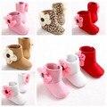 Inverno novos Grandes Flores Sapatinhos de Bebê do Sexo Feminino Crianças Sapatos Da Criança Bebê Infantil Botas de Neve Ao Ar Livre Rua Conforto Primeiro Walkers ROM30