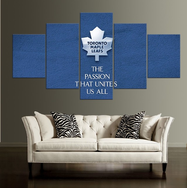 5 Pieces Toronto Maple Leafs HD Canvas Painting Wall Art Game Prints Home Decor Picture Poster