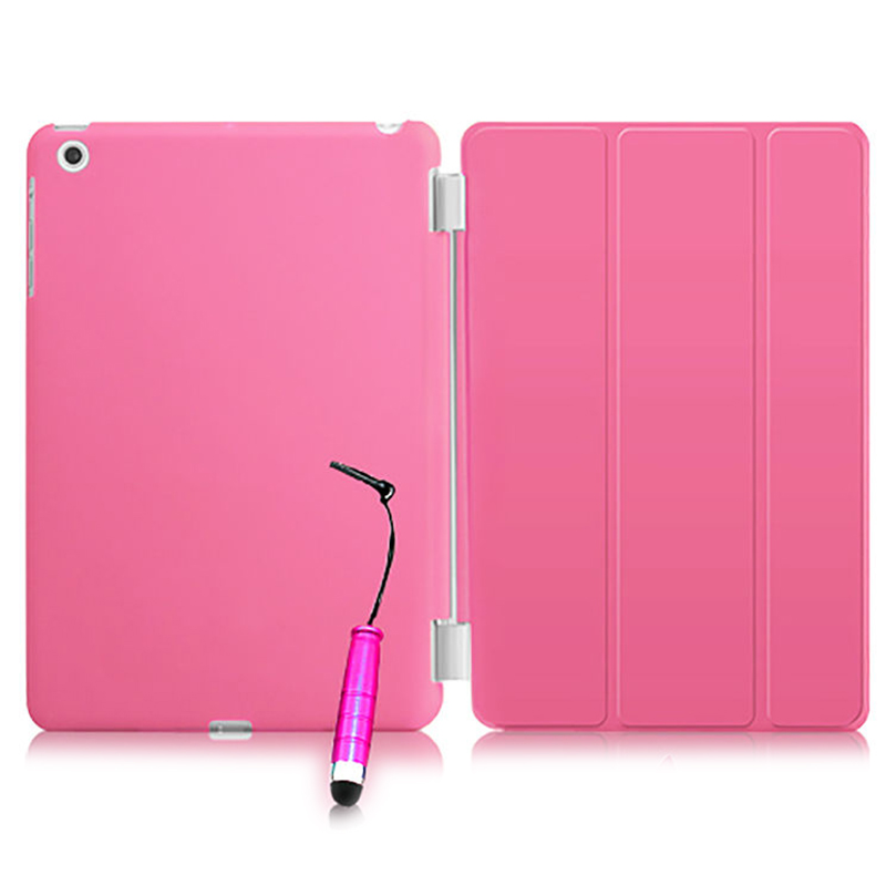 New Smart Stand Magnetic Leather Case Cover For Apple iPad Mini 1 2 & 3 colour:Pink apple ipad mini smart case black mgn62zm a