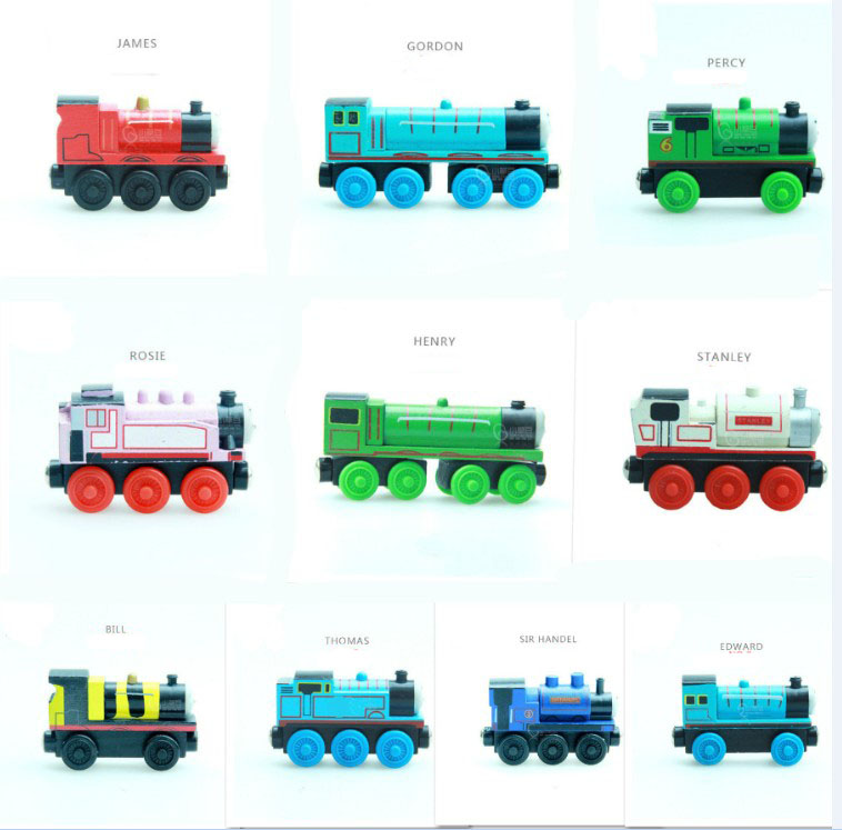 New Emily Wood Train Magnetic Wooden Trains Car Toy Model Magnetic Toys Christmas Gift Kids Children Fit Wooden Thomas Tracks(China)