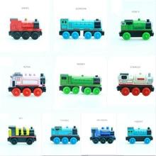 Деревянный Паровозик Emily, магнитный деревянный паровозик, Игрушечная модель, магнитные игрушки, рождественский подарок, для детей, подходит для деревянных треков Thomas