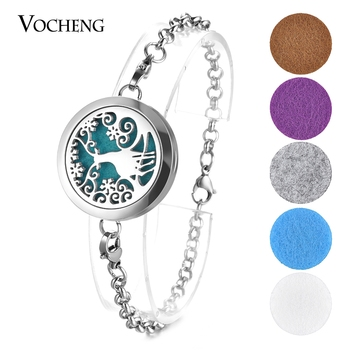 10pcs/lot Diffuser Bracelet Reindeer Stainless Steel Aromatherapy Diffuser Locket Bracelet Bangle 2 Styles VA-547*10 фото