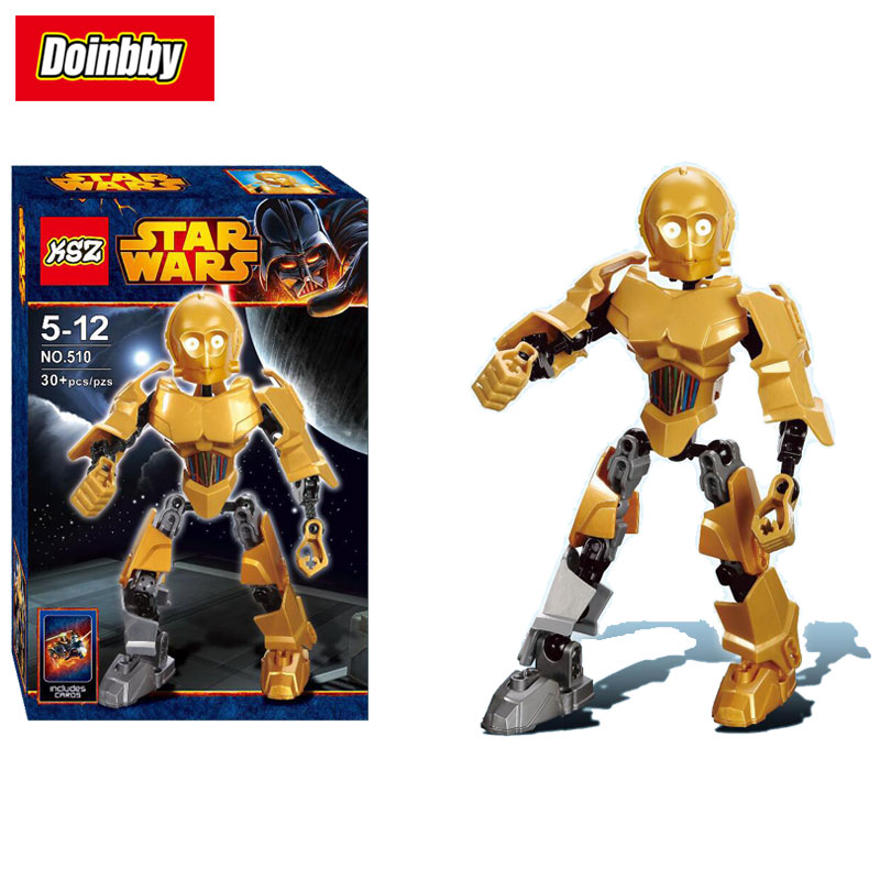 Creative KSZ 510 Compatible with Legoings Star Series Wars Mini C-3PO See-Threepio Figure Building Block Toys Kids Gifts 8007