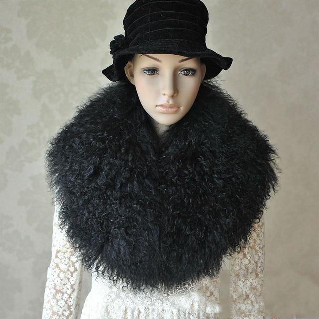 Real fur beach sand sheep maomao  fox scarf fashion collar wool scarf maxillary woman tanned fur shawl women in winter