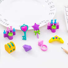 4pcs/lot Cute Eraser Cartoon Princess Castle Series Set Stationery School Student Supplies Gift For Kids