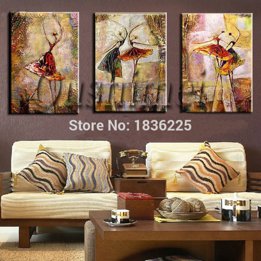 dancer girl modern abstract paintings decorative and oil bedroom decorating for living room