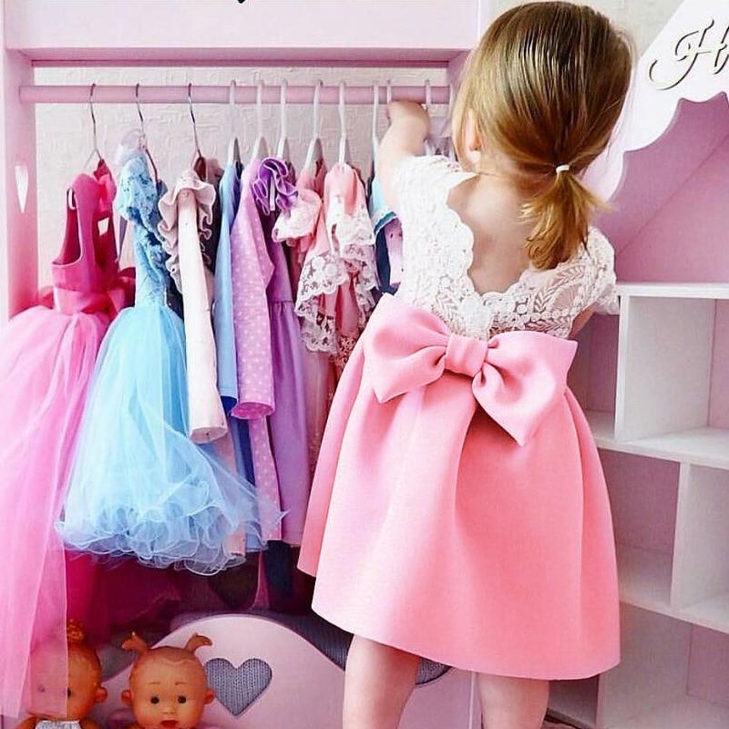 2018 nowych dzieci sukienki dla dziewczynek Princess Party Sundress - Ubrania dziecięce - Zdjęcie 2