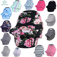 Newborn Baby Nursing Cover Printed ,Shopping Cart, High Chair, Car Seat Canopy,Multi Use Breastfeeding Cover Up Stroller Carseat