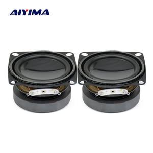 Aiyima 2 pçs Polegada 4 ohm 5w alto-falante de áudio portátil 52mm alto falantes gama completa diy mini multimídia áudio altifalante