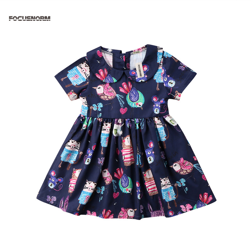 2018 summer infant baby clothes newborn baby girls tutu dress print princess party dresses for baby girls clothing dress