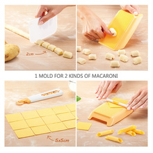 1pc DIY Noodle Machine Maker Kitchen Gadget Plastic Macaroni Spaghetti Board Pasta Gnocchi Maker Pasta Machine Dough Roller