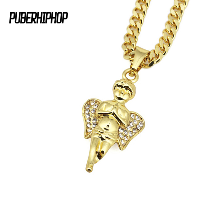 2017 men iced out gold baby angel micro necklace fashion hip hop 2017 men iced out gold baby angel micro necklace fashion hip hop style cuban link chain aloadofball Choice Image