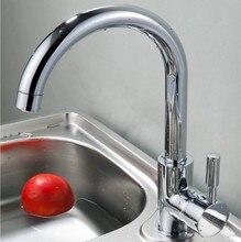 Смеситель для кухни меди холодной и горячей воды смеситель для кухни бак для воды мытья овощей смеситель кухонный кран
