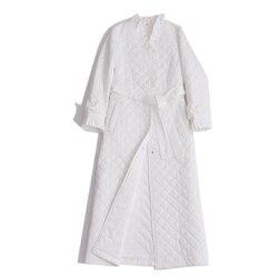 Хлопковый Халат, длинная ночная рубашка, Женская домашняя одежда, зимний халат, пижамы для женщин