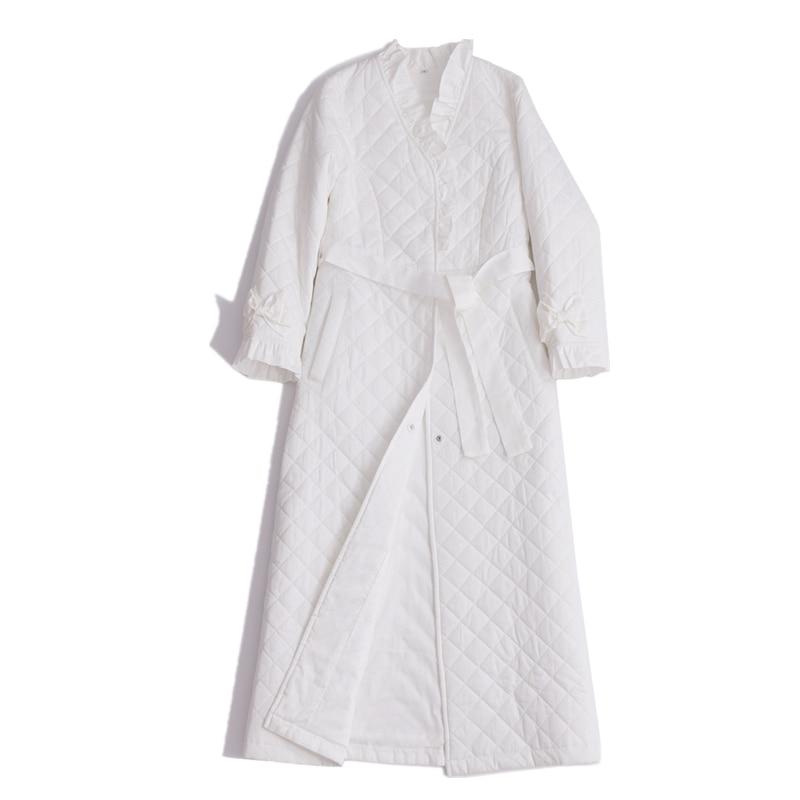 Cotton Robe Long Nightgown Women Homewear Winter Robe Sleepwear Ladies