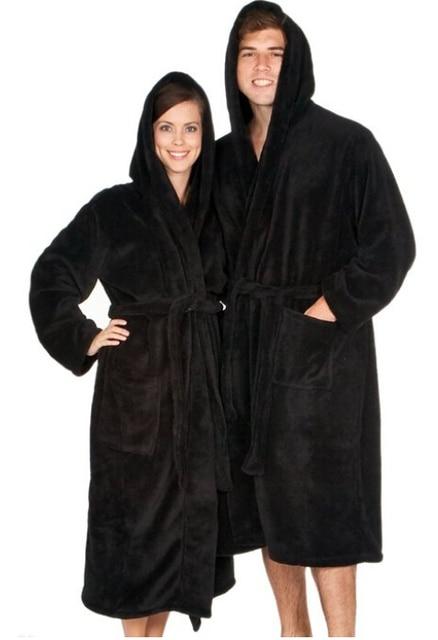 Bathrobe Hooded Adluts robes design robes Fleece Size S M,L,XL ...