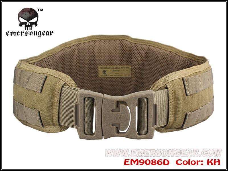 Prix pour Emerson Molle rembourré Molle ceinture hommes Airsoft Combat militaire armée ceinture kaki EM9086D soutien de taille