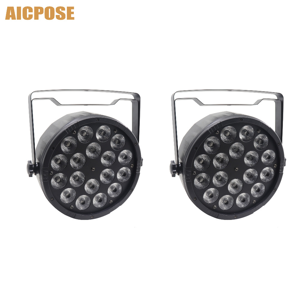 2pcs/lots 18x12W RGBW 4in1 Led Par Light 18*12w DMX512 Disco Lights Professional Stage DJ Equipment Wedding Disco Stage Lighting