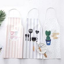 Cute Cartoon Cactus Cups Design Unisex Cooking Dining Room Kitchen BBQ Restaurant Cleaning Pocket Waitress Baking Mats Aprons