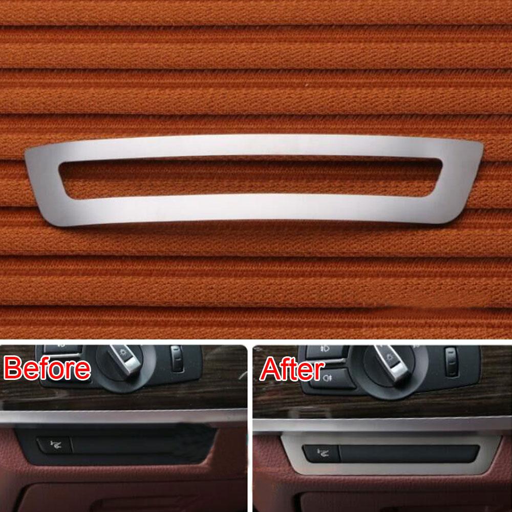 Rostfritt stål Instrumentbord Konsolomkopplare Knappskydd Trimramdekoration för BMW 7-serien F01 F02 2010-2015 Bilstyling