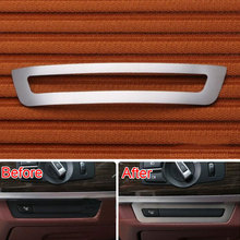 Stainless Steel Dashboard Console Switch Button Cover Trim Frame Decoration For BMW 7 Series F01 F02 2010-2015 Car Styling