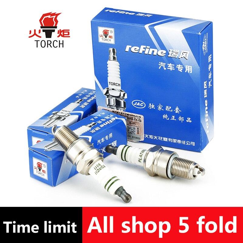 4pcs/lot China original TORCH Iridium spark plugs 9011 for GEELY HQ;JAC M1;GREAT WALL DEER/SING/WINGLE3/WINGLE5 iridium spark plugs 4 pack