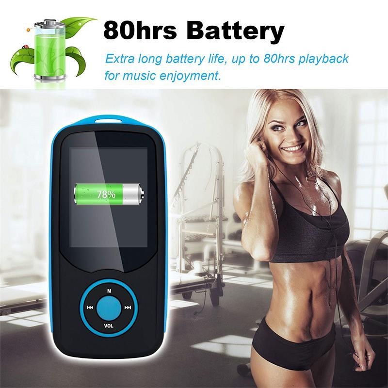 Bluetooth4.0 1.8 düymlük Rəng Menyu Ekranı olan MP3 Pleyer, FM - Portativ audio və video - Fotoqrafiya 6